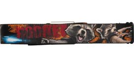 Guardians of the Galaxy Rocket Red Name Seatbelt Mesh Belt