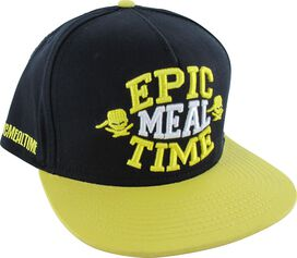 Epic Meal Time Raised Name Snap Hat