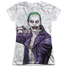 Suicide Squad Across The Throat Short Sleeve Junior Poly Crew T-Shirt