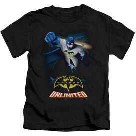 Batman Unlimited Descent Short Sleeve Juvenile Black T-Shirt