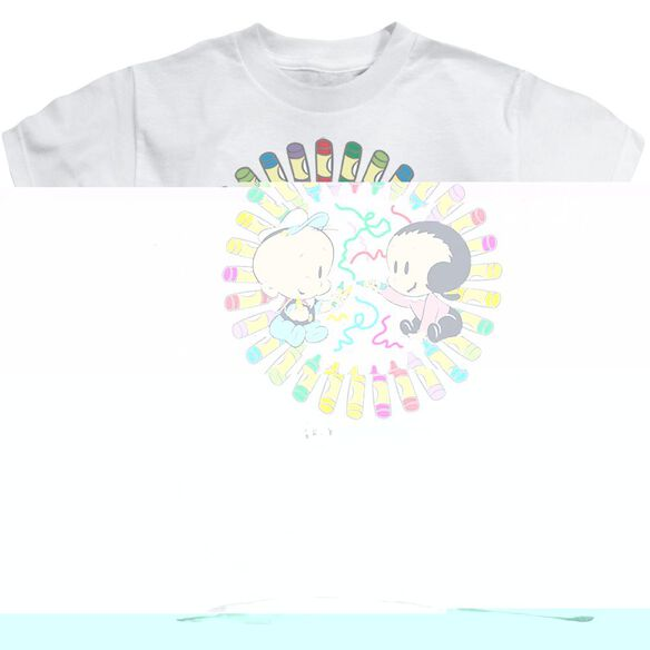 POPEYE FUN WITH CRAYONS - S/S JUVENILE 18/1 - WHITE - T-Shirt