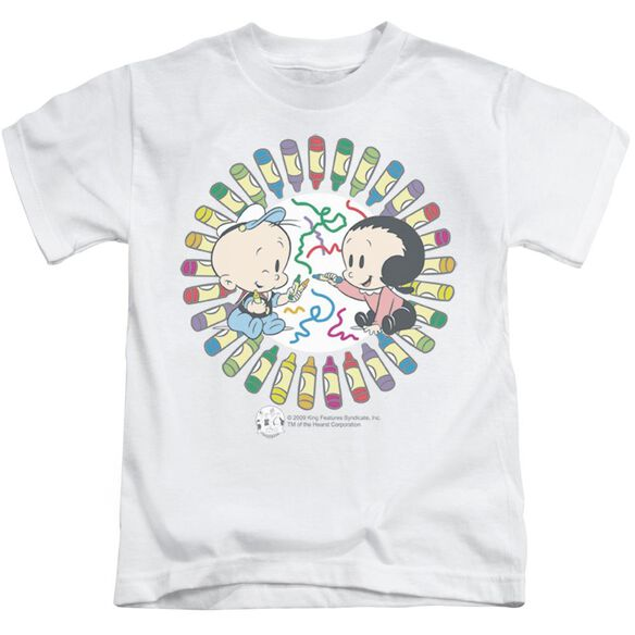 Popeye Fun With Crayons Short Sleeve Juvenile White Md T-Shirt