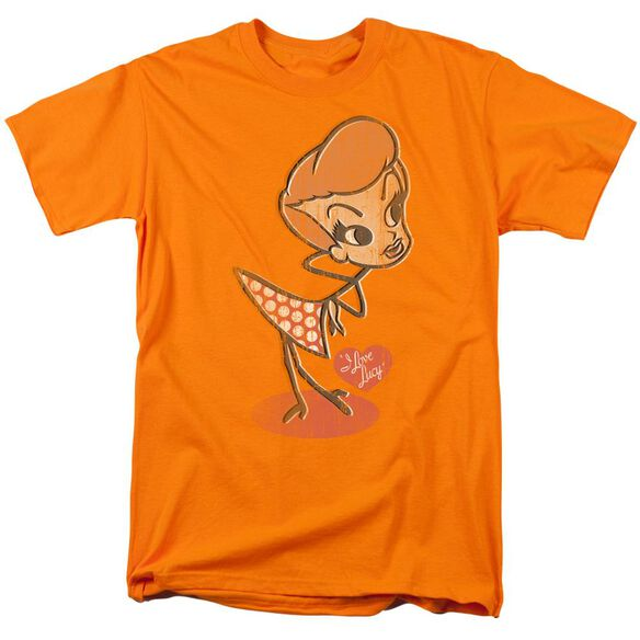 I Love Lucy Vintage Doll Short Sleeve Adult Orange T-Shirt