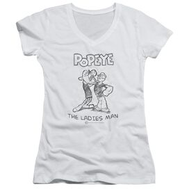Popeye Ladies Man Junior V Neck T-Shirt