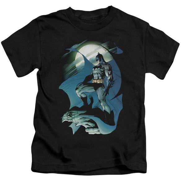 Batman Glow Of The Moon Short Sleeve Juvenile Black T-Shirt
