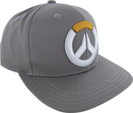 Overwatch Embroidered Logo Gray Snapback Hat