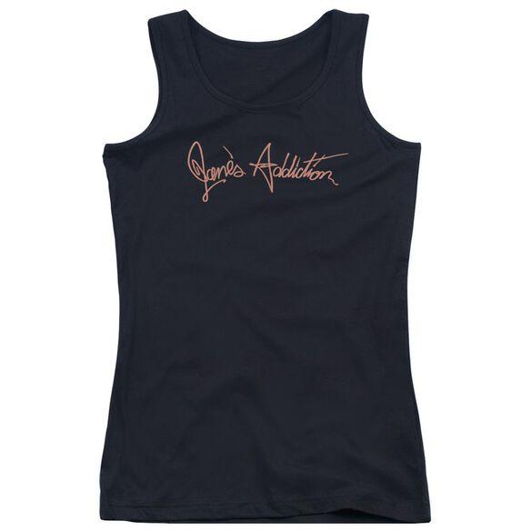 Janes Addiction Script Logo Juniors Tank Top