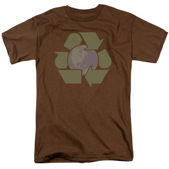 RECYCLE EARTH - ADULT 18/1 - COFFEE T-Shirt