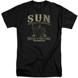 Sun Records Rockabilly Bird Short Sleeve Adult Tall T-Shirt