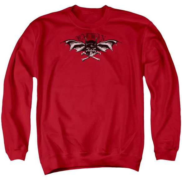 Batman Wings Of Wrath Adult Crewneck Sweatshirt
