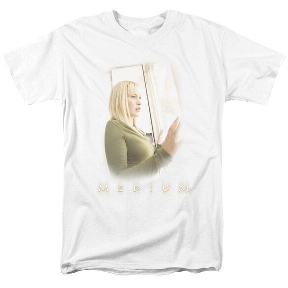 Medium White Light Short Sleeve Adult White T-Shirt