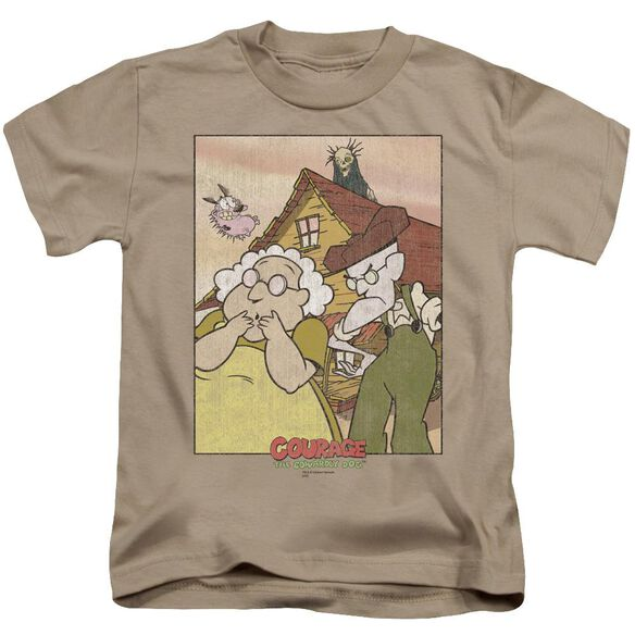 Courage Gothic Courage Short Sleeve Juvenile Sand T-Shirt