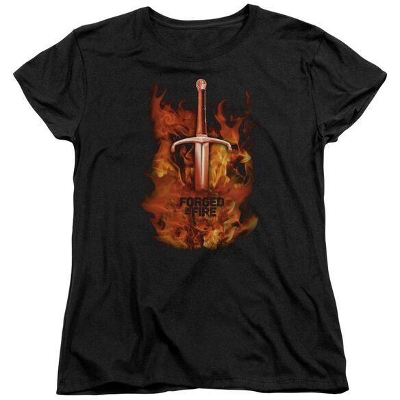 Forged In Fire Sword In Fire Short Sleeve Womens Tee T-Shirt