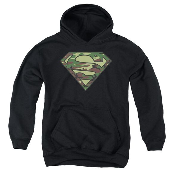 Superman Camo Logo Youth Pull Over Hoodie