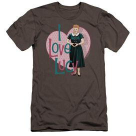 I Love Lucy Heart You Premuim Canvas Adult Slim Fit