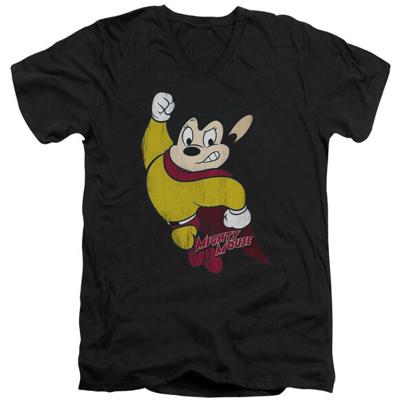 Mighty Mouse Classic Hero Short Sleeve Adult V Neck T-Shirt