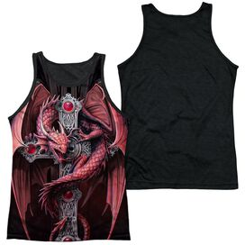 Anne Stokes Gothic Guardian Adult Poly Tank Top Black Back