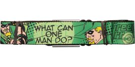Green Arrow One Man Seatbelt Belt
