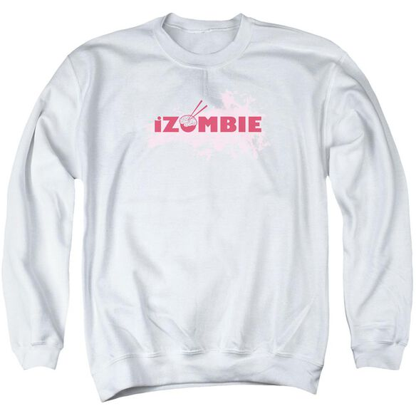 Izombie Splatter Logo Adult Crewneck Sweatshirt
