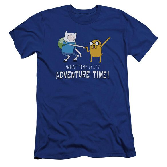 Adventure Time Fist Bump Hbo Short Sleeve Adult Royal T-Shirt