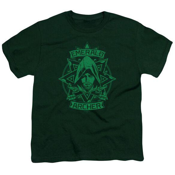 Arrow Archer Illustration Short Sleeve Youth Hunter T-Shirt