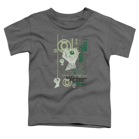 Green Lantern Core Strength Short Sleeve Toddler Tee Charcoal Sm T-Shirt