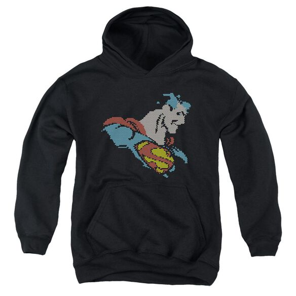 Dc Lite Brite Superman Youth Pull Over Hoodie