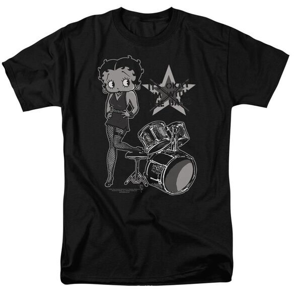 Betty Boop With The Band Short Sleeve Adult T-Shirt
