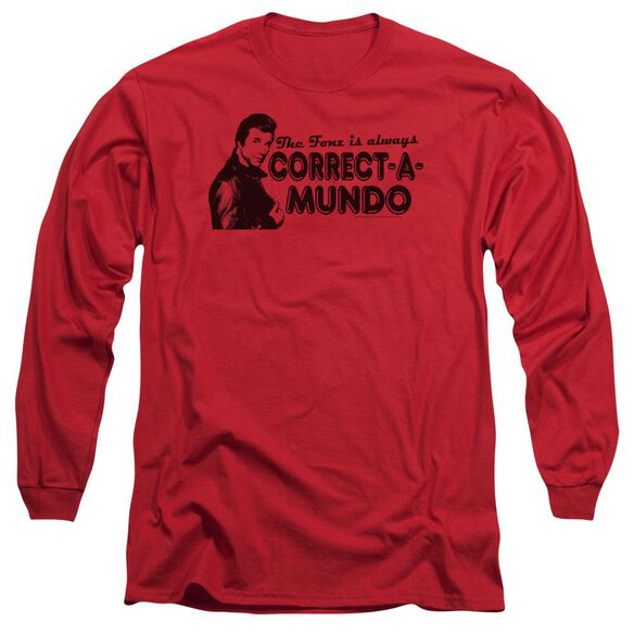 Happy Days Correct A Mundo Long Sleeve Adult T-Shirt