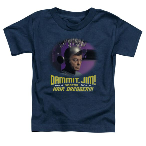 Star Trek Not A Hair Dresser Short Sleeve Toddler Tee Navy T-Shirt