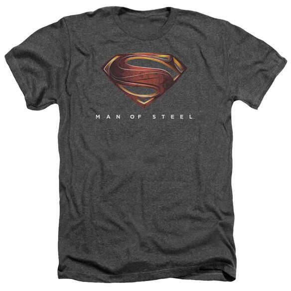 Man Of Steel Mos New Logo Adult Heather