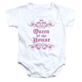 Queen Of The House - Infant Snapsuit - White - Sm