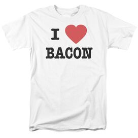 I Heart Bacon Short Sleeve Adult T-Shirt