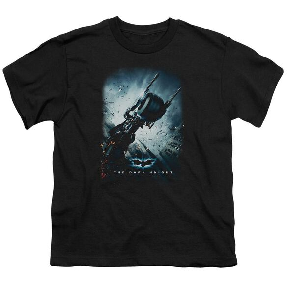 Dark Knight Bat Pod Poster Short Sleeve Youth T-Shirt