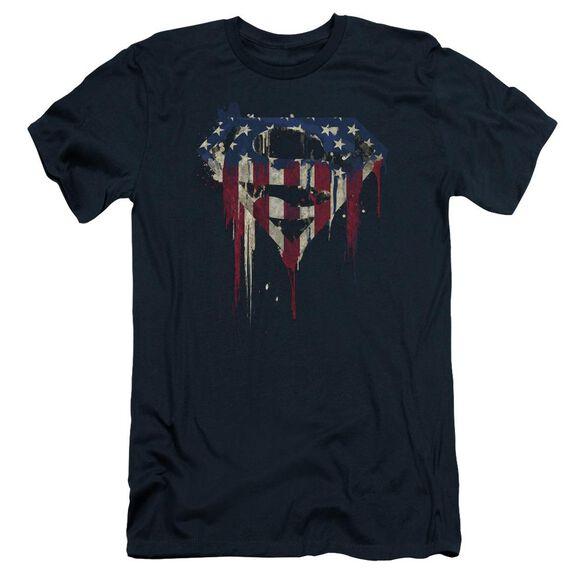 Superman Bleeding Shield Short Sleeve Adult T-Shirt