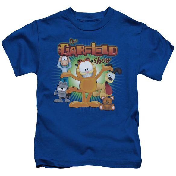 Garfield The Garfield Show Short Sleeve Juvenile Royal Blue Md T-Shirt