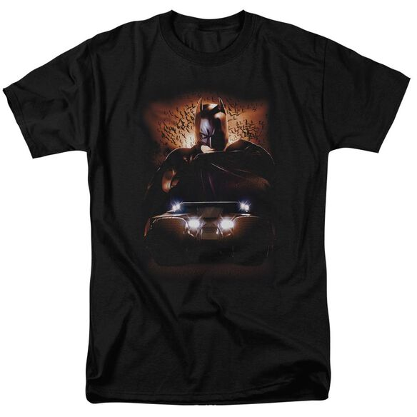Batman Begins Batman & Tumbler Short Sleeve Adult Black T-Shirt
