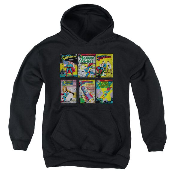 Superman Covers Youth Pull Over Hoodie