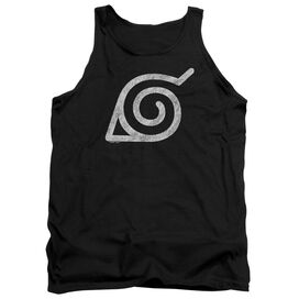 Naruto Shippuden Distressed Leaves Symbol Adult Tank