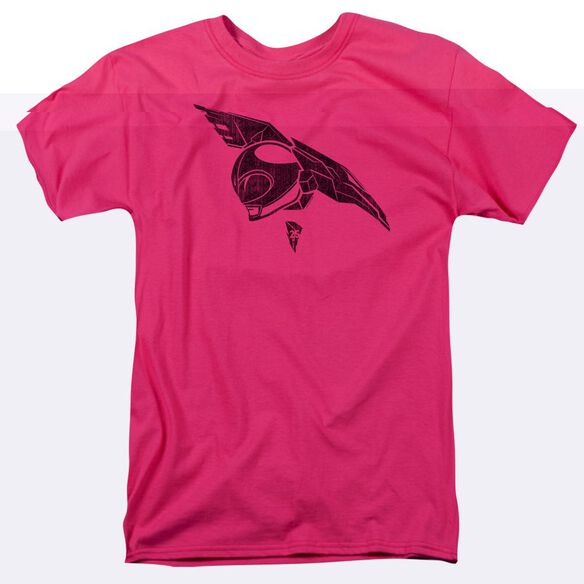 Power Rangers Pink Short Sleeve Adult Hot Pink T-Shirt