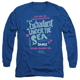 Back To The Future Under The Sea Long Sleeve Adult Royal T-Shirt