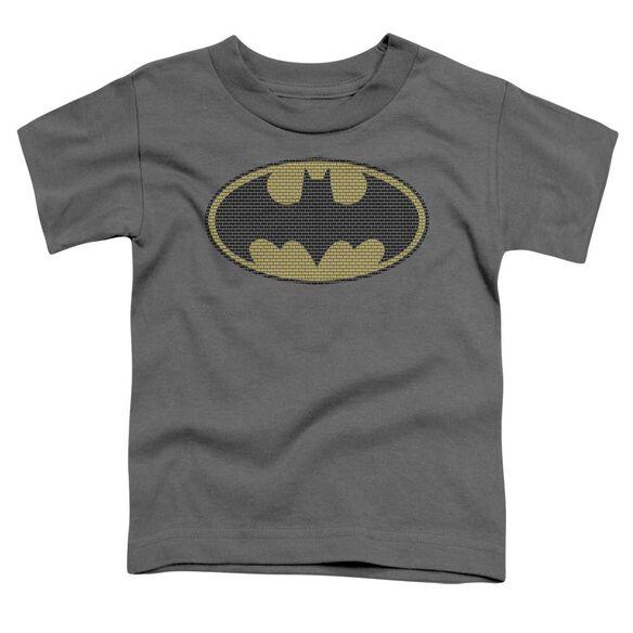 BATMAN LITTLE LOGOS - S/S TODDLER TEE - CHARCOAL - T-Shirt