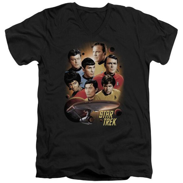 Star Trek Heart Of The Enterprise Short Sleeve Adult V Neck T-Shirt