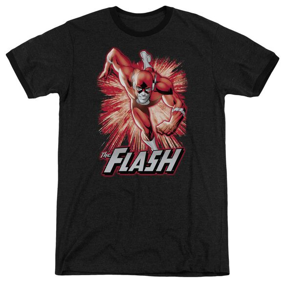 Jla Flash Red & Gray Adult Heather Ringer