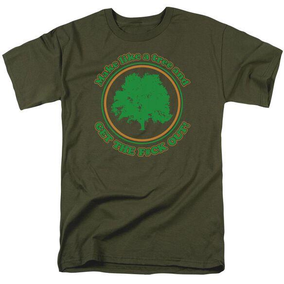 Make Like A Tree Short Sleeve Adult Military T-Shirt