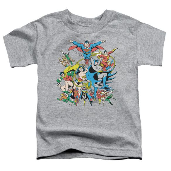 Dc Justice League Assemble Short Sleeve Toddler Tee Athletic Heather Lg T-Shirt