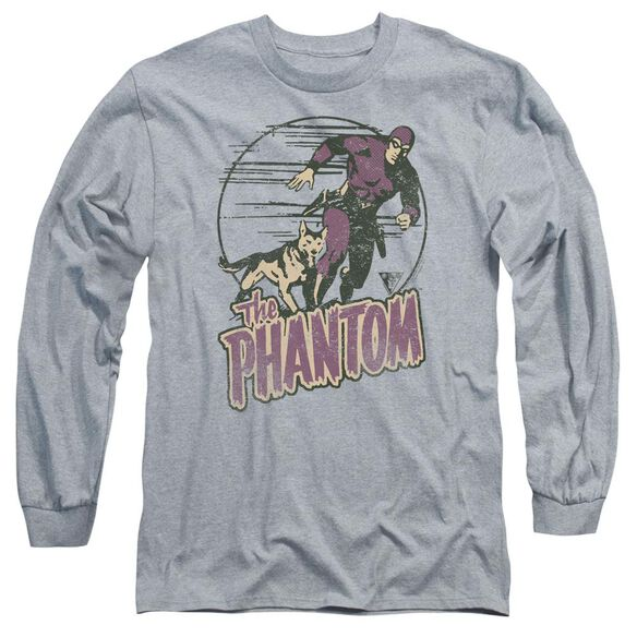 Phantom Phantom And Dog Long Sleeve Adult Athletic T-Shirt