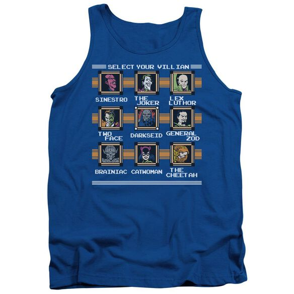 Dc Stage Select Adult Tank Royal