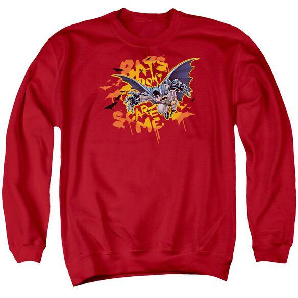 Batman Bats Don'T Scare Me Adult Crewneck Sweatshirt