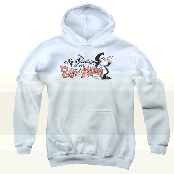 Billy & Mandy Logo-youth Pull-over Hoodie - White